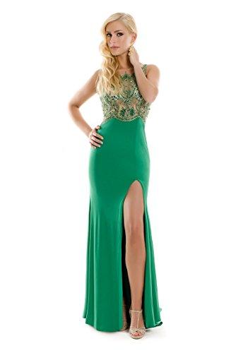 VIP Dress Abendkleid Jersey / Ballkleid lang / Standesamtkleid in Grün, Größe 38