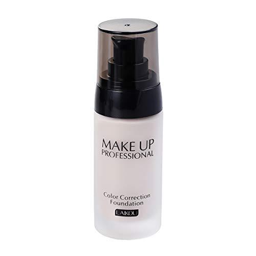 Frcolor 40 g de blanchiment Couverture Liquide Qui coule Fond de Teint correcteur d'huile maquillant imperméable cosmétiques (Blanc Ivoire)