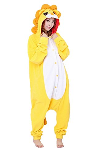 arneval Halloween Pyjamas Tier Pyjama Cosplay Zoo Onesies Overall L/altezza 170-179cm, massimo 100kg. Leonessa (Zoo Tier Halloween-kostüme)