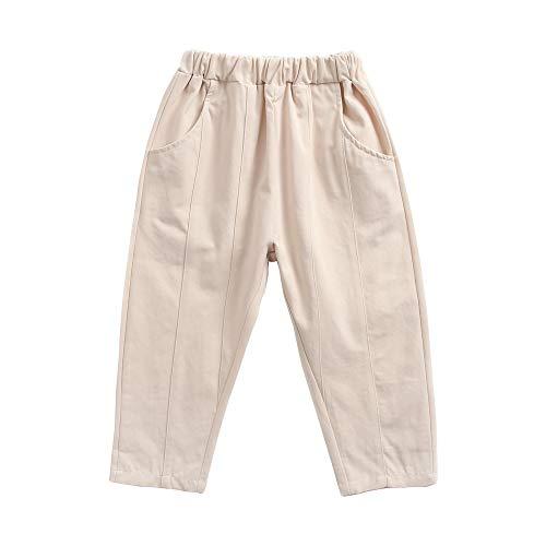 Sanlutoz Doux Coton Un Pantalon pour des Gamins Décontractée Bébé Garçons Filles Pantalon Solide Couleur Unisexe (18-24 mois/90cm, KPW8121-KA)