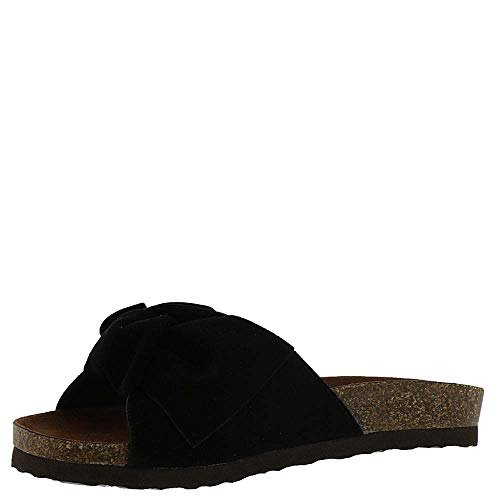 WHITE MOUNTAIN Womens Henley Suede Slides Flats -