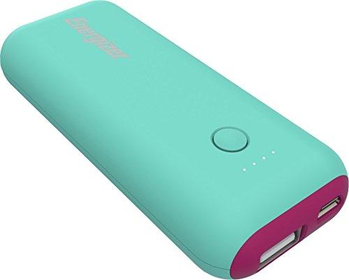 Energizer Max 5000mAh Externer Akku, kompakte Powerbank, Handy Ladegerät [2.1A Output] für iPhone Xs/Xs Max/XR/X/8/7, iPad, Samsung Galaxy S9/S8 und Viele Mehr (Mint/Magenta)