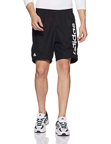 Adidas Men's Regular Fit Shorts (DP1705_Black/White_Medium)