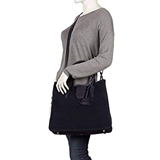 abro Suede Leder Handtasche #1 grau