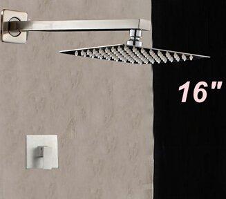 Nickel-dusche-kopf (5151buyworld Top Qualität Wasserhahn gebürstet quadratisch Regen Dusche Kopf Griff Ventil Einhebelmischer, showerfor Badezimmer Küche Home Gaden (begriffsklärung), mehrfarbig)