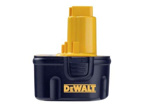 DeWalt Ersatzakku (12 V, 2,6 Ah NiMH, passend für alle 12 Volt Akku-Maschinen von DeWalt, keine Selbstentladung, kein Memoryeffekt) DE9501 -
