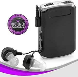 amplificateur de son-Pocket son appareil vocal Enhancer avec Duo Micro/oreille Plus Extra Lot, Personnel amplificateur de casque et micro pour malentendants et malentendantes par Medca