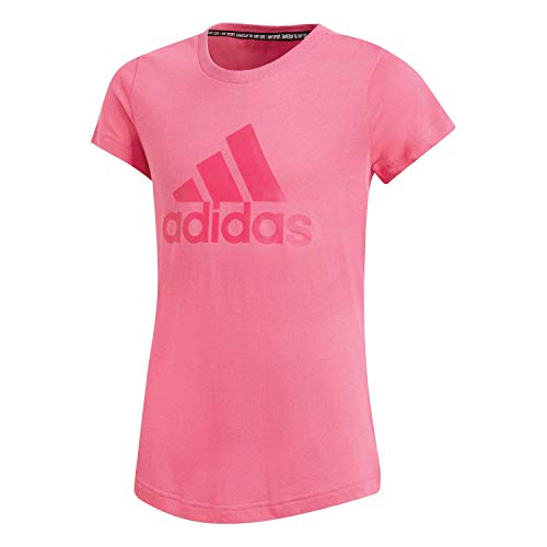 adidas Mädchen Must Haves Badge of Sport T-Shirt, Semi Solar Pink/Real Magenta, 152