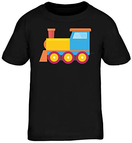 Kinder Kostüm Zug - Zug Lokomotive Gruppen Kostüm Zugmaschine Kinder T-Shirt Karneval & Fasching witzige Verkleidung Schwarz // 6 Jahre (106cm - 116cm)