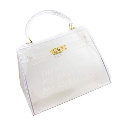 Damenhandtaschen Damen Glamour Handtasche, Neue Koreanische Version Des Wilden Bonbonfarbengeleepakets Transparente Tasche Art Und Weisehandtasche Kuriertasche Jelly Package Transparent Handbag -