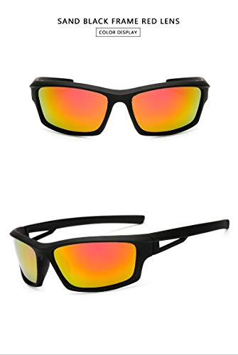 Glasses Mens UV400 verhindern GlareNew Sports Herren polarisierte Sonnenbrille Outdoor Riding Night Verson Brille for Nacht Windschutzscheibe Sonnenbrille for Herren (Color : Orange)