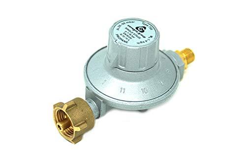 Cavagna Niederdruckregler 25-50mbar 11-stufig verstellbar Gasdruckregler für Gasgrill, Heizstrahler, Terassenstrahler, Kocher