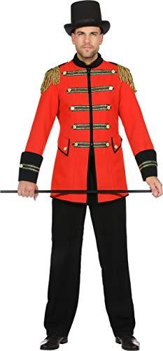 Wilbers Showkostüm Show Zirkus Direktor Kostüm Herren Manege Rot Karneval Fasching Rot - Für Erwachsenen Zirkusdirektor Kostüm