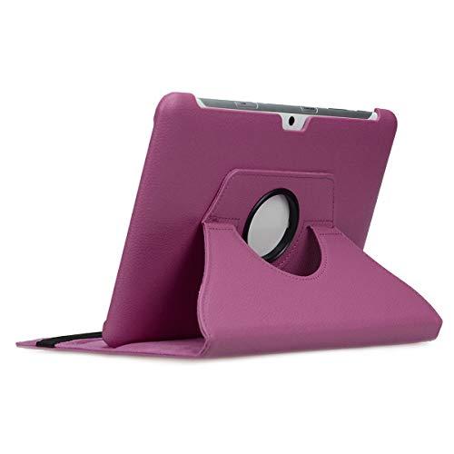 doupi Deluxe Schutzhülle für Samsung Galaxy Tab 2 (10,1 Zoll), Smart Case Sleep/Wake Funktion 360 Grad drehbar Schutz Hülle Ständer Cover Tasche, lila - Tab 2 Samsung Lila Galaxy Case