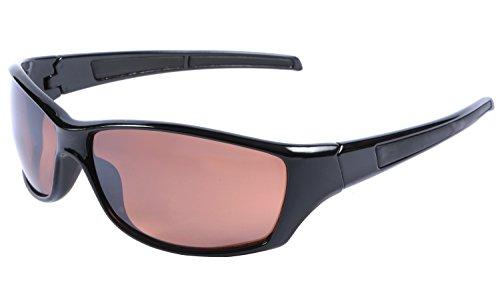 Männer Fahren Sonnenbrille Schwarz Wrap 100% UV 400 Schutz Blockieren Blaues Licht Objektiv + Fall und Tuch