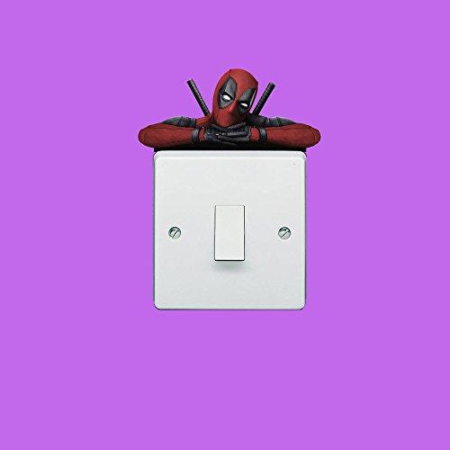 Transfer-schalter (Deadpool Licht Schalter Aufkleber Wand Sticker Art Wand Transfers Aufkleber customise4utm)