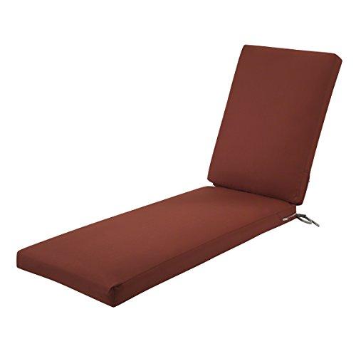 Classic Accessories Ravenna Patio Chaise Lounge Cushion Slip Cover & Foam - Durable Outdoor Cushion, Spice, 72