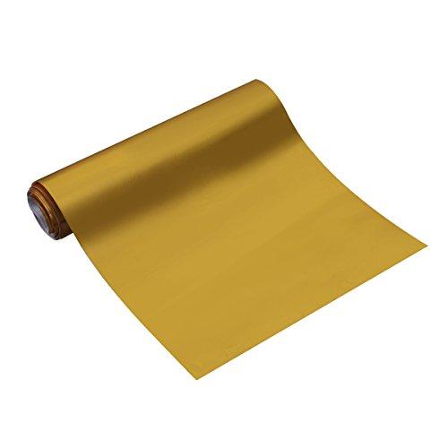 Vosarea Vinylfolie, Carbonfaser, Vinyl, glänzend, selbstklebend, für Auto Van Wrap Tool (Gold)