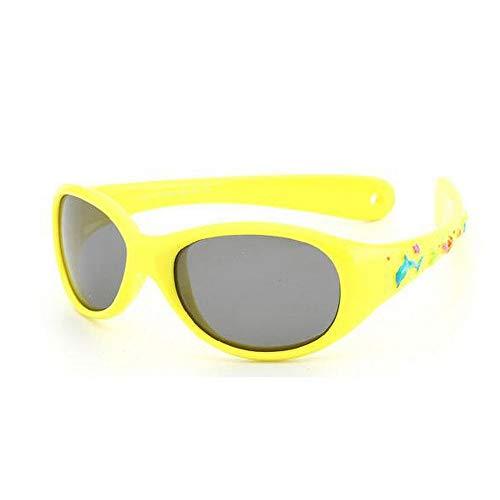 Mojinglin occhiali da sole per bambini bambini baby whale cartoon occhiali da sole bambini silicone super leggero di piccola dimensione polarized mirror bambini occhiali da sole, a