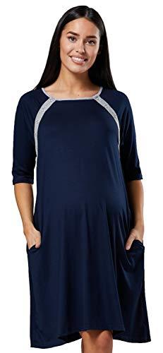 Happy mama donne maternità stampato consegna ospedale camicia notte 534 p (marina, it 46/48, l)