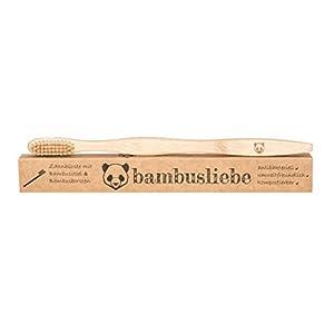 ✮ bambusliebe ✮ Bambus Zahnbürste im 1er/3er/10er Pack ♻ Nachhaltig ✅ Vegan ✅ Antibakteriell ✅ BPA-frei ✅