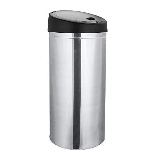 WIS Abfalleimer 30 Liter Küche Papierkorb mit IR Sensor Mülleimer Bewegungssensor Kücheneimer Edelstahl Geruchsdichter Mülltonne Silber