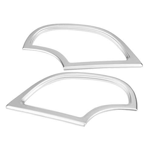Kimiss 2 pcs ABS Chrome de voiture Tableau de bord Air Conditioning Coque Trim