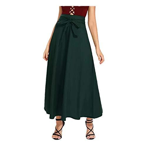 ZSJ-BSQ Neuer Kurzer Rock von 2019 Das sexy Kleid der eleganten Frauen zeigt Ihr Temperament (Color : Green, Size : L) -