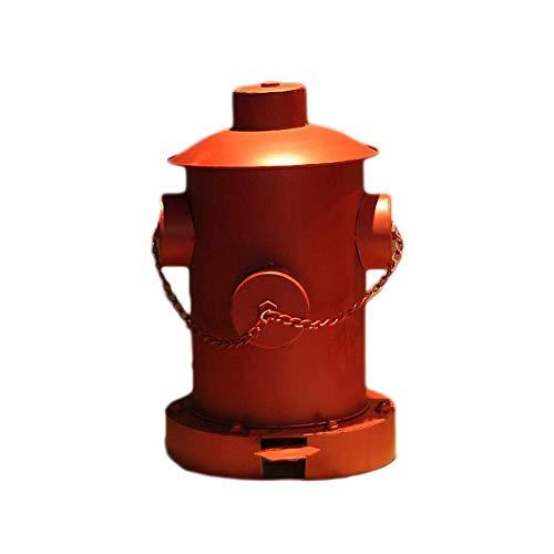 WYYF American Loft Retro Iron Dust Bins Industria Viento Old Oil Bar Bins Cubo De Almacenamiento Papelera...