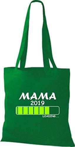 ShirtInStyle Stoffbeutel Baumwolltasche Loading MAMA 2019 Kelly