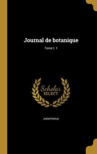 Journal de Botanique; Tome T. 1