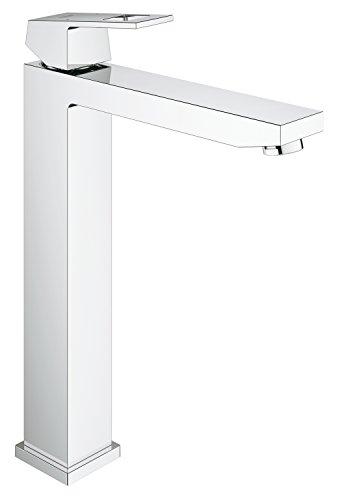 Grohe Eurocube | Badarmatur - Waschtischarmatur | für freistehende Waschschüsseln, glatter Körper, extra hoher Auslauf | 23406000