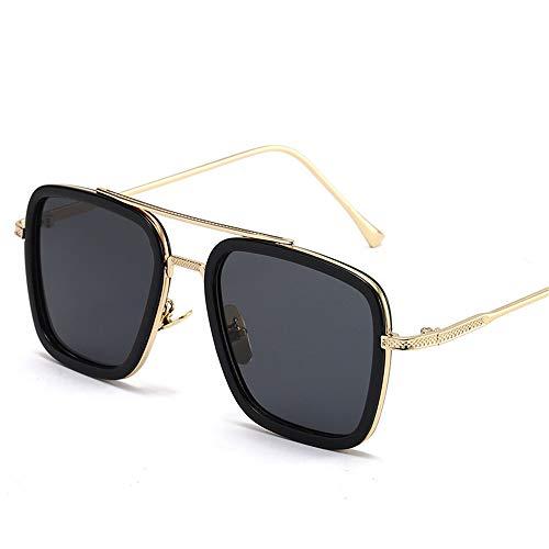 Sonnenbrille Brille Silber Rahmen schwarz Kreis alle grau Routine