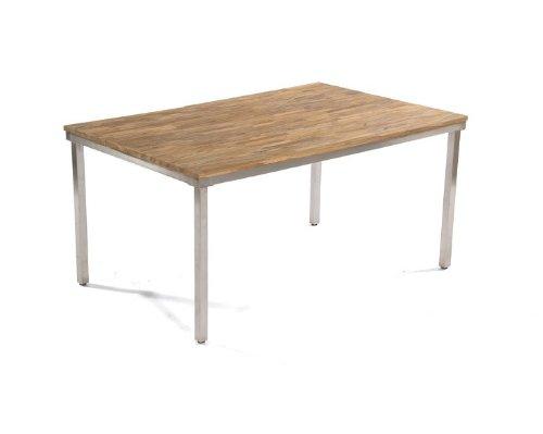Sonnenpartner Tisch 'New Orleans' 160 cm Edelstahl Old-Teak-Look