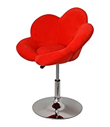 ts-ideen 1x Barhocker rote Blume Design Lounge Sessel Barsessel Clubsessel Cocktailsessel Drehsessel D0