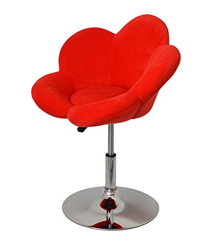 ts-ideen 1x Barhocker rote Blume Design Lounge Sessel Barsessel Clubsessel Cocktailsessel Drehsessel D0