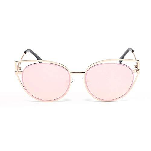 Farbige Linse Katzenaugen UV-Schutz-Sonnenbrille Fahren im Freien für Frauen Männer. Brille (Farbe : Rosa)