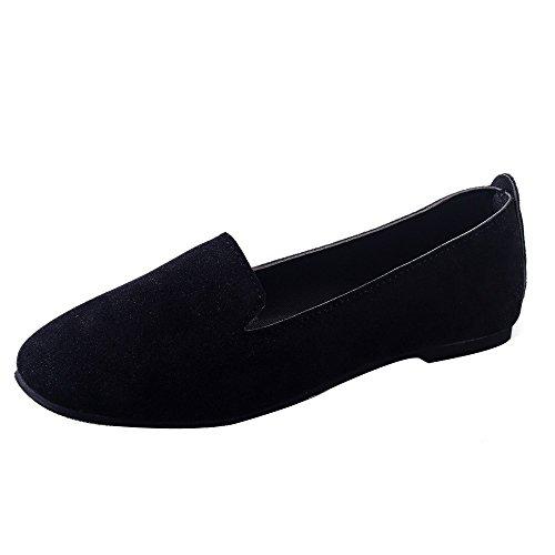 HUYURI Elegante Scarpe da Donna della Punta Aguzza Scarpe Casual Tacco Basso Piane Scarpe da Donna con Tacco Eleganti Ballerine Scarpe