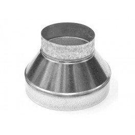 Réducteur métal 125-200 mm ventilation conduit
