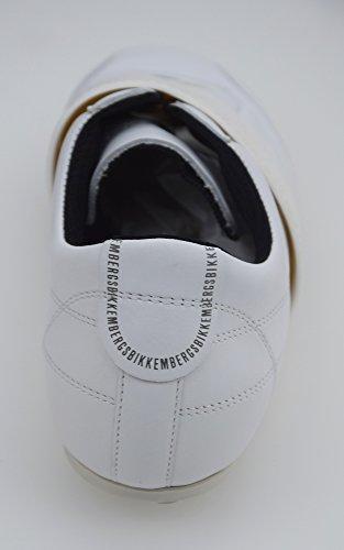 BIKKEMBERGS SCARPA SNEAKER UOMO PELLE BIANCO ART. BKE105318 Bianco