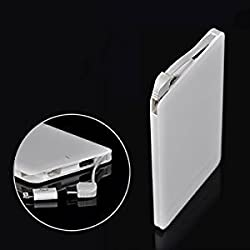 CROSS 6000mAh Ultra Slim Power Bank with high battery capacity -Durable and long lasting -(White) WireZone