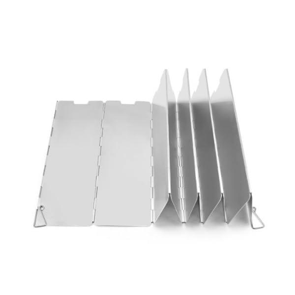 SODIAL(R) 10 placas Fold camping Cocina Cocina de gas Escudo del viento de la pantalla plegable al aire libre 1