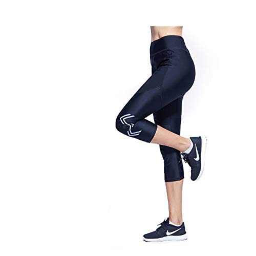 Trainingsanzug Sprenghose Sport Laufen Fitness Hosen Cropped Hose Weibliche Sommer Sweat Suit Gewichtsverlust Kleidung (Size : S)