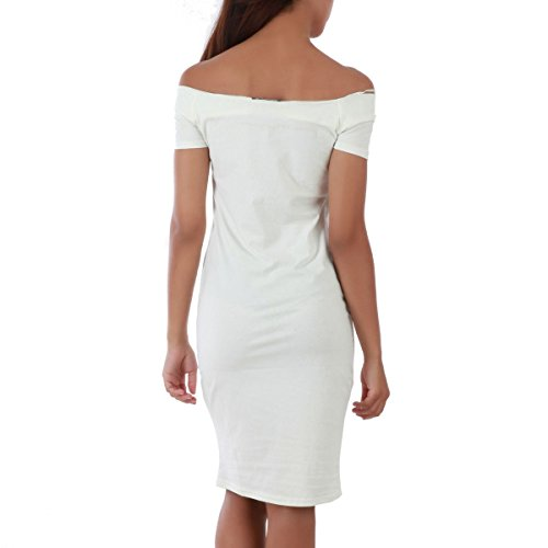 La Modeuse - Robe moulante sans manches Blanc