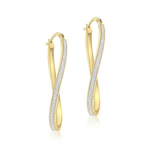Carissima Gold Damen - Ohrringe 9 k (375) Rundschliff Diamant 1.51.1269