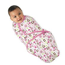 Summer Infant Girls SwaddleMe Blanket - Baby Pucksack - Flower Love - modernes, allerneustes Motiv aus USA