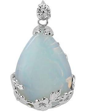 Exquisiter Anhänger in Tropfenform mit Opalit, Wasserblau