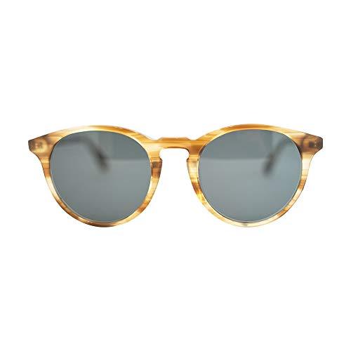 MessyWeekend New Depp - Klassisch Runde Dänische Designer Sonnenbrillen mit UV400 Schutz Horn