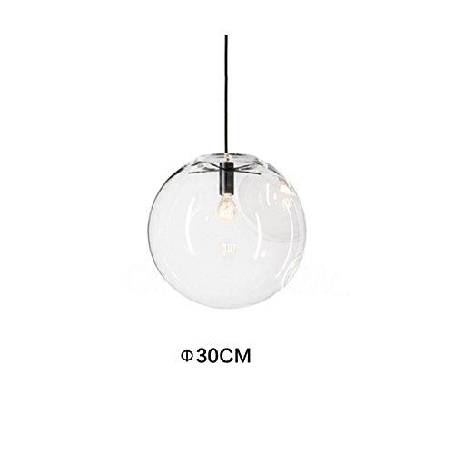 MZStech - Kugelförmiges klassisches Glas-hängendes helles kreatives einzelnes helles Hauptglas-Lampen-Farbton (30cm) (Glas-pendelleuchte-lampen-farbtöne)