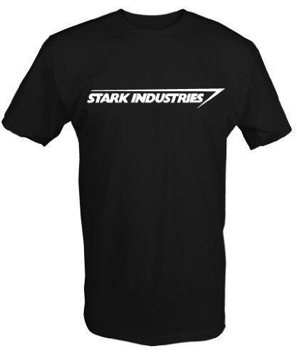 6 TEE NINERS Stark Industries T-Shirt - Schwarz, XXL (Ideen Dunklen In Der Glühen)